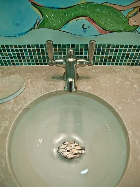 sink stopper  fish nice beach bathrooms coastal