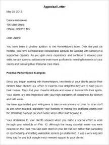 Performance Review Letter Template by Sle Letter Of Employee Performance Review Cover