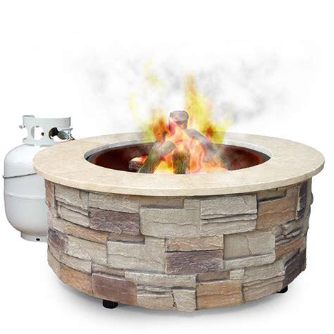 Uniflame Firepit Uniflame Pit W Marble Mantel 35 Quot Patio Outdoor Decor Walmart