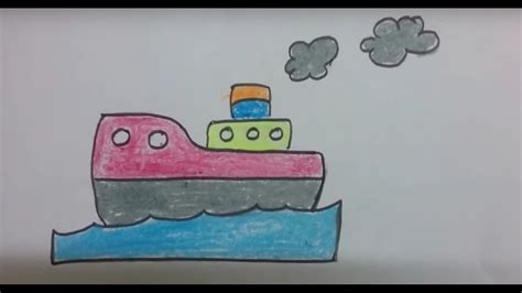 how to draw a boat with shapes how to draw a ship with basic shapes kids easy boat