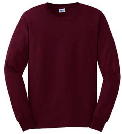 Plain Sleeve Kaos Lengan Panjang Polos Merah gildan sleeve maroon plain t shirt mens