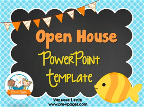 Pre K Classroom Parent Open House Pre K Pages Open House Powerpoint Template