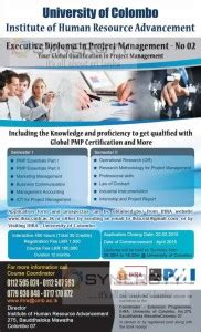 Mba In Hrm In Colombo by Executive Diploma In Project Management By Institute Of