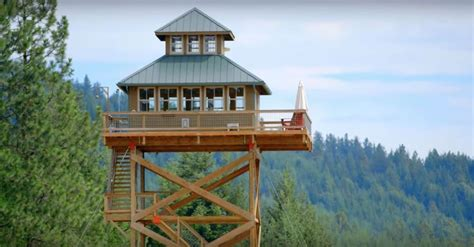 fire lookout tower plans dabney and alan finished building their off grid fire