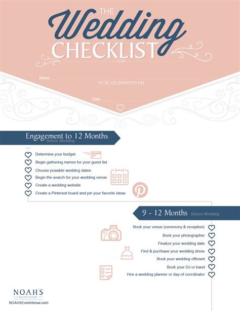 Wedding Checklist Website the complete wedding planning checklist noahs weddings