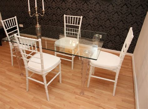 designer acrylic dining room set ghost chair table designer acrylic dining set black white ghost chair