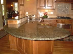 Kitchen Island Granite Countertop by Kitchen Curved Granite Kitchen Island Countertop With