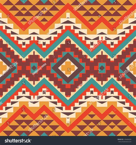 aztec pattern stock seamless colorful aztec pattern stock vector 145404205