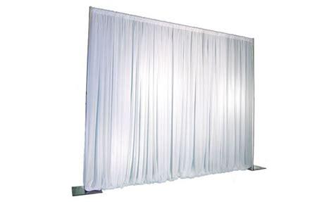 Pipe Drape Backdrop White Ta Stage Rental