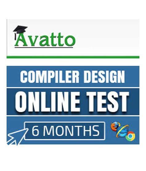 design online exam compiler design online test by avatto buy compiler design