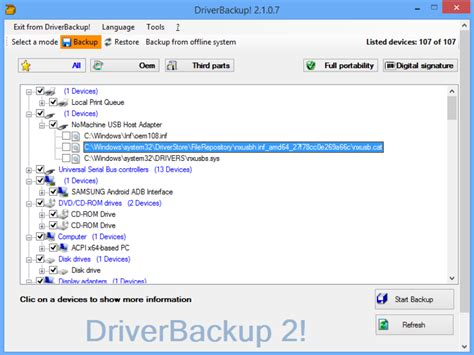 pc driver view back up and restore pc drivers with driverbackup