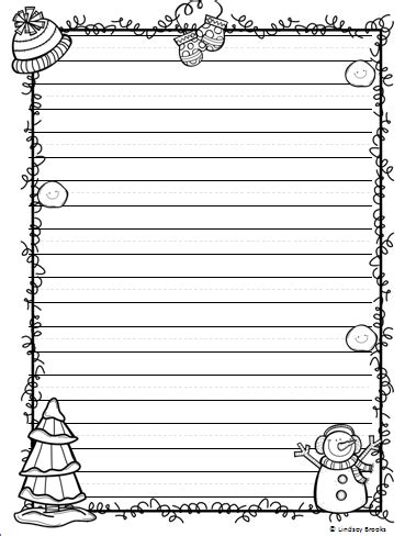 printable writing paper for winter winter writing paper writing paper february and january