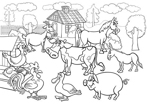 Printable Farm Animal Coloring Pages Coloring Me Farm Animals Colouring Pages