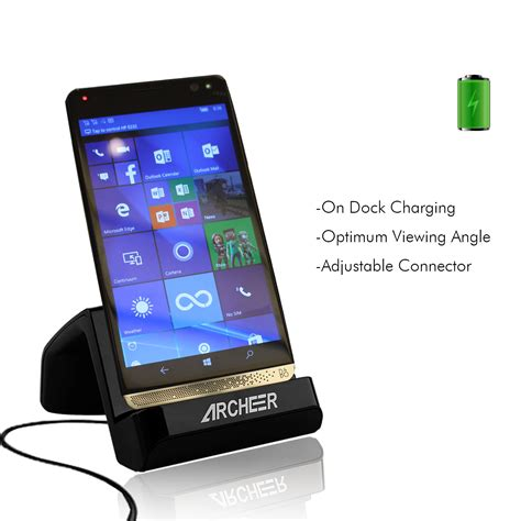 Hp Zte Grand X3 archeer type c charger usb desktop charging dock station