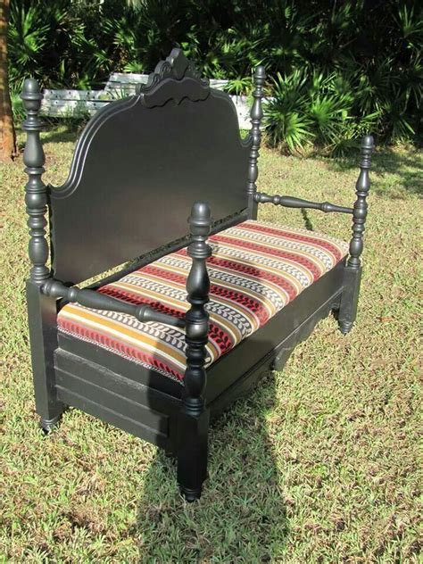 bed into bench twin bed converted into bench now that s clever