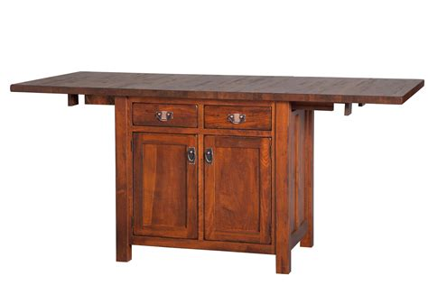mission kitchen island  extendable top  dutchcrafters amish