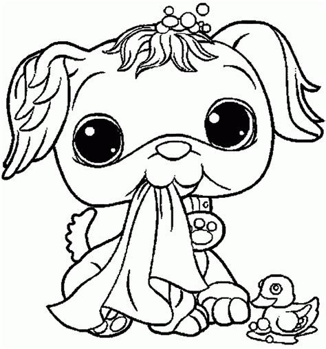 Littlest Pet Shop Coloring Pages Free Coloring Home Free Printable Pictures
