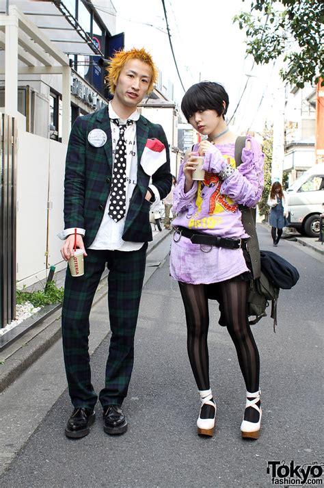 japanese style 666 retro punk japanese street style in harajuku