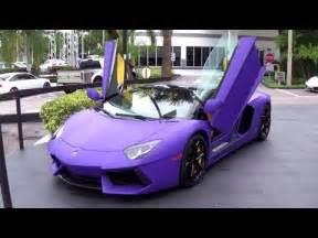 Purple Lamborghini For Sale Unique Matte Purple Lamborghini Aventador Roadster For