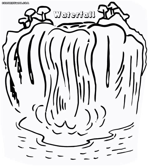 waterfall coloring pages waterfall coloring pages coloring pages to download and