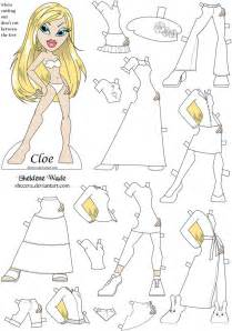 bratz coloring pages bratz coloring paper doll craft