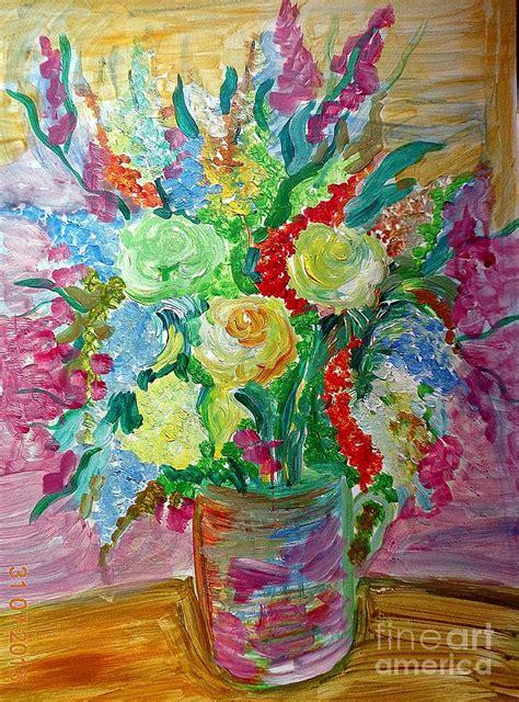 art dinca flori de c painting by farfallina art gabriela dinca