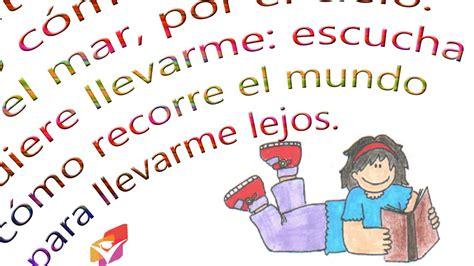nombres ni o cortos 11 poemas para ni 241 os de primaria padres en la escuela