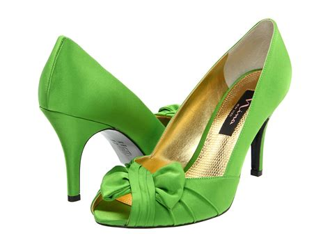 apple green shoes nina forbes apple green satin zappos com free shipping