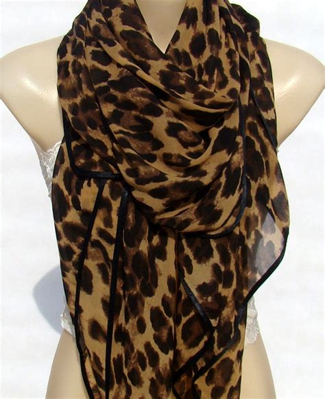 Trend Alert Leopard Print Scarves by Fashion Classic Brown Leopard Print Scarf Large Size By Xyuezw