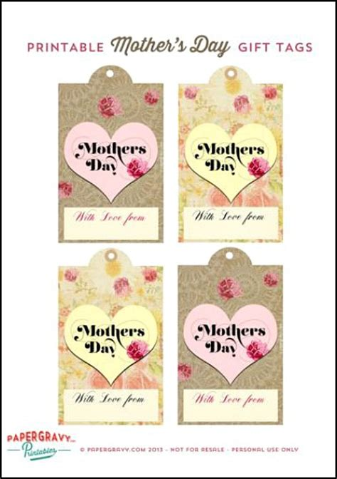 free printable gift tags mothers day 9 best images of printable month day labels free