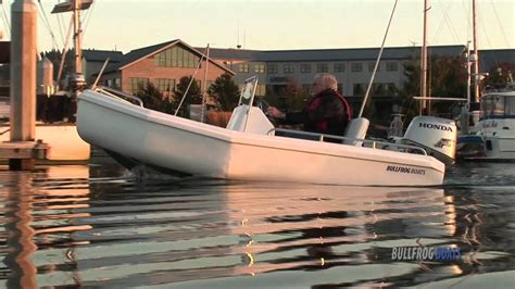 foam filled boats yacht tender and utility tender by bullfrog boats youtube