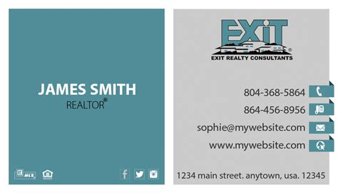 business card templates local same day orders exit realty business card 20 exit realty business card