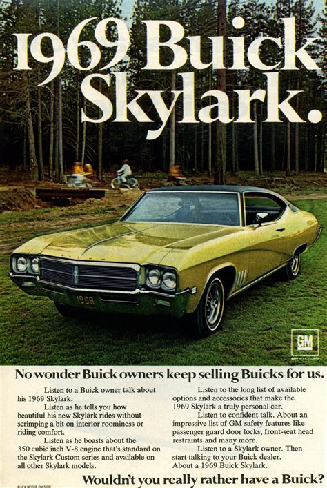 buick advertising 1969 buick skylark advertisement photo picture
