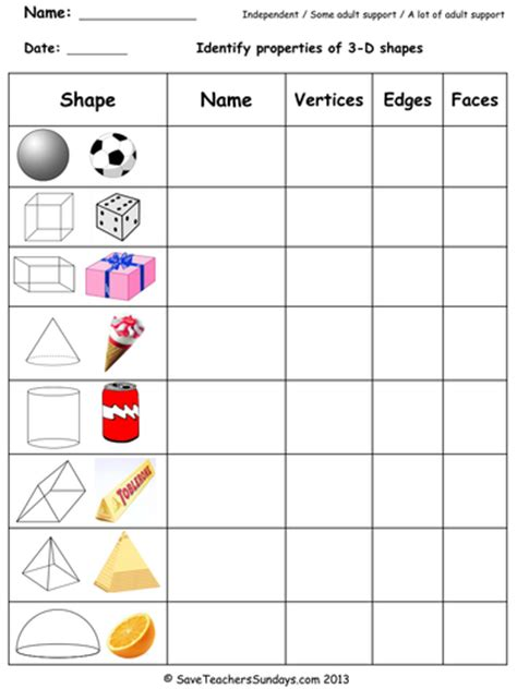 shapes worksheets year 8 year 3 maths worksheets from save teachers sundays by