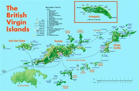 printable map virgin islands large detailed road and tourist map of british virgin