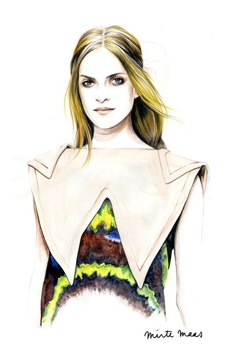 Gorgeous Fashion Illustrations by Beautiful Fashion Portrait Illustrations By Caroline Andrieu