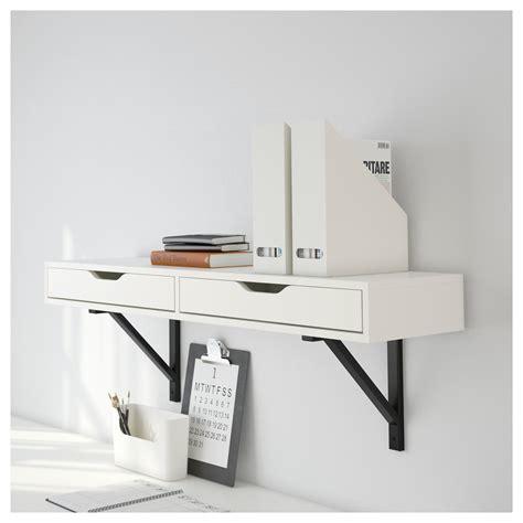Ekby Shelf by Ekby Valter Ekby Alex Shelf With Drawer White Black 119x28