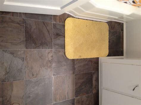 Bathroom ? Toilet Subfloor Repair & New Glueless Flooring