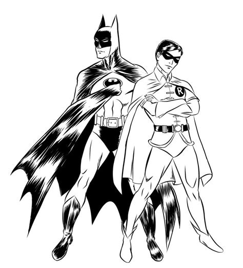 free printable batman coloring pages for - Batman And Robin Coloring Pages