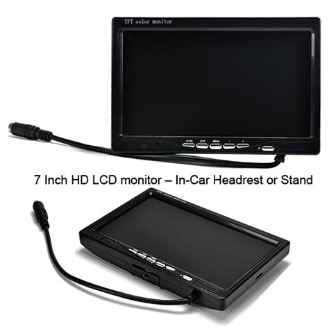 Speaker C79 7 inch lcd headrest car monitor with rca a v in ttm c79