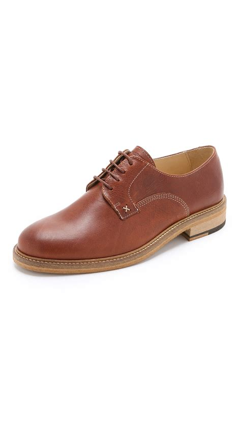 plain toe oxford shoes wolverine henrik leather plain toe oxford shoes in brown
