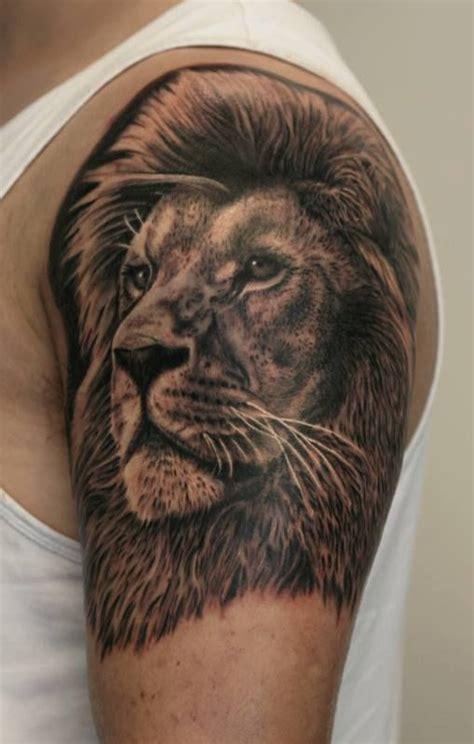 lion shoulder tattoos for men tattoos on left shoulder by francisco