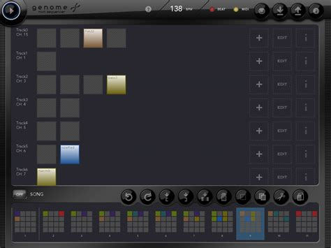 drum pattern sequencer app kvr genome midi sequencer by white noise audio midi