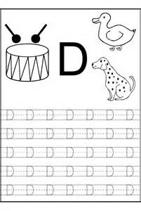 trace letter d worksheets activity shelter