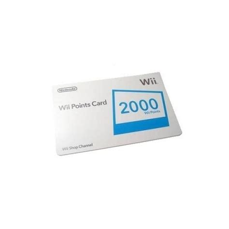 Points For Gift Cards - nintendo wii 2000 points usa gift card voucher emailed worldwide
