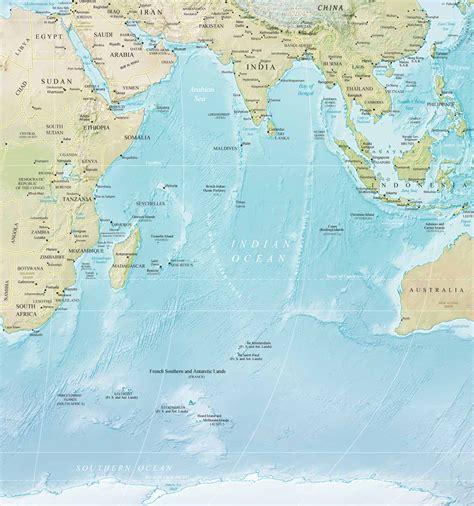 ocano frica mapa do oceano indico africa e asia