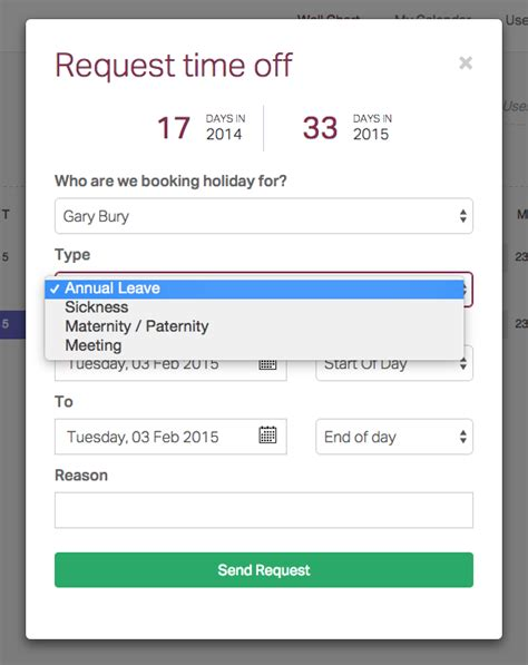 employee request time off sheet search results