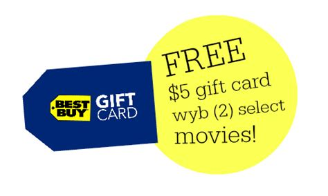 Can I Buy Gift Card With Best Buy Reward Certificate - best buy deal buy 2 select movies get a 5 gift card southern savers