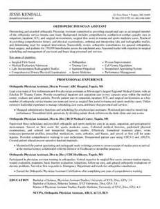 orthopedic registered resume