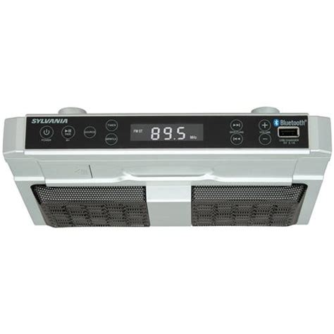 kitchen clock radio under cabinet sylvania bluetooth under cabinet kitchen clock radio
